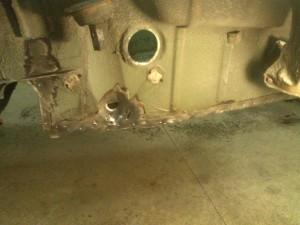 Left Rear Trunk Floor Spot Welds