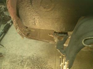 Right Rear Trunk Floor Spot Welds