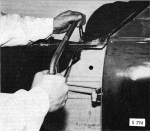 Cutting Wheel-House Flange at Dash Panel
