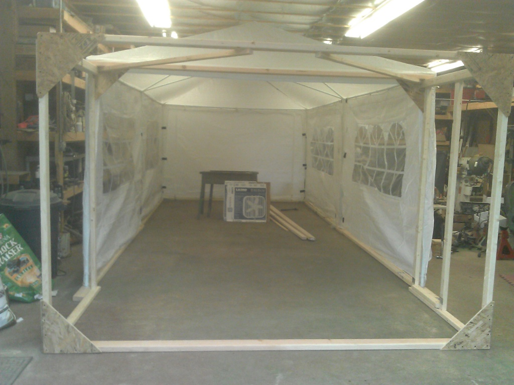 Adding 4-ft Extension to Party Tent & Paint Booth u2013 Looking Ahead u2013 Saabyurku0027s Saab Monte Carlo 850 ...
