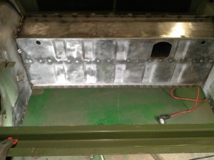 Axle Tunnel Backside Punched for Welding