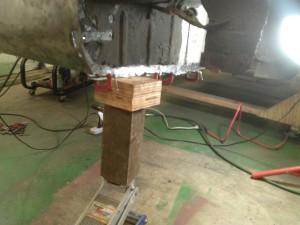 Positioning and Welding the Floor Pan to the Wheel Wells