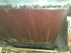 Floor Welded, Back Underside View