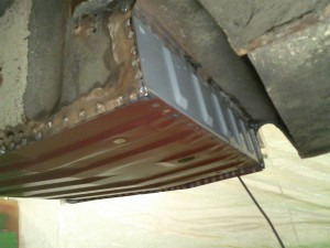 Floor Welded, Front Underside View