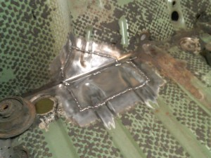 Welded Firewall and Passenger Floor Patches