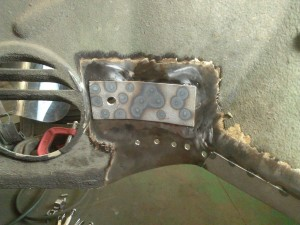 Welded Bumper Mount Patch, Passenger Side