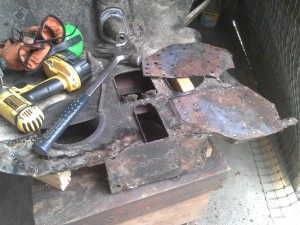 Rusted Donor Wheel Housing