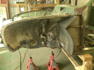 Donor Wheel Housing Partially Welded in Place