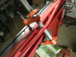 Clamping Upper Brake Plate to Start Bend