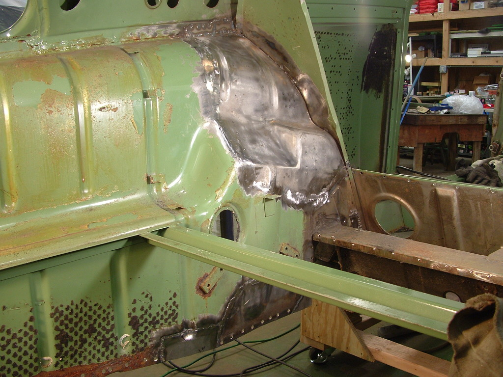 Welded Wheel Housing Sections from Inside